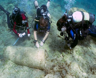 Ağrotur bölgesinde antik gemi batığı bulundu