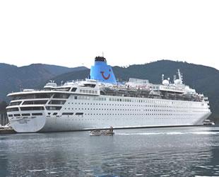 'Marella Dream' isimli yolcu gemisi, Marmaris'e geldi