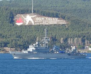 'Ivan Khurs' isimli Rus keşif gemisi, Çanakkale Boğazı'ndan geçti