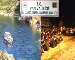 Van'da tekneyle düzensiz göçmen kaçakçılığı yapan 10 kişi yakalandı