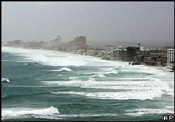 Wilma kasırgası Yucatan'ı vuruyor