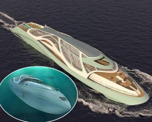 Denizaltı özelliğine de sahip yat projesi ilgi çekiyor