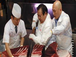 Orkinos balığı açık artırmada 11 milyon liraya satıldı