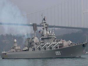 Türk Boğazları'ndan geçen Rus Mareşal Ustinov füze kruvazörü Akdeniz'e ilerliyor