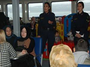 İDO Eskihisar-Topçular hattında kadına şiddete hayır semineri düzenlendi