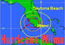 Wilma Florida'yı vurmaya başladı