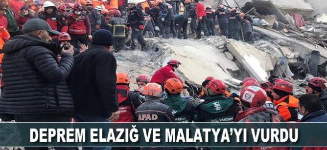 Elazığ ve Malatya'yı deprem vurdu