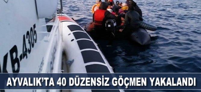 Balıkesir Ayvalık'ta 40 düzensiz göçmen yakalandı