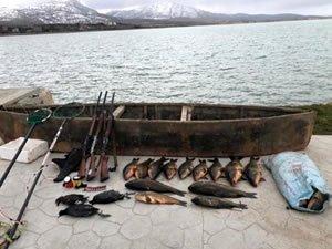 Konya'da elektroşokla balık avına 420 bin lira ceza verildi