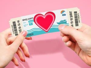 İDO'dan sevdiğine yarı fiyatına bilet