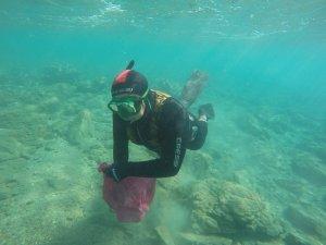 Uluslararası Optimist Yarışları öncesi deniz dibi temizliği yapıldı