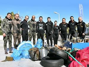 Bodrum'un mavi suları gönüllü dalgıçlara emanet