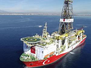 Fatih sondaj gemisi ikmal için Mersin açıklarına geldi