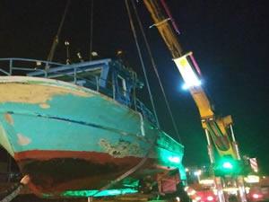 Samsun'da çalınan tekne Giresun'da bulundu