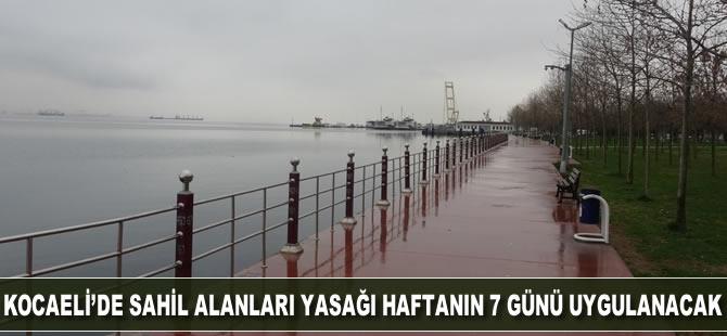 Sahil alanları yasağı Kocaeli'de haftanın 7 günü uygulanacak