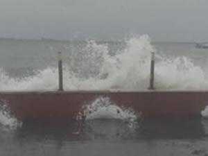 Tekirdağ'da fırtına nedeniyle çok sayıda gemi demir attı