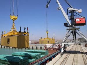 Dev ihracat treninin yükleri Hazar'a açıldı