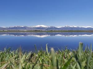 Eriyen karlar, Erzurum Ovası'nı göle dönüştürdü