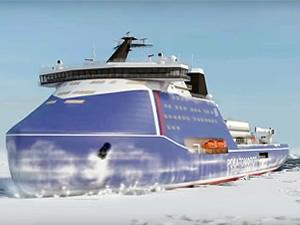 Yeni Buzkıran 'Yakutia'nın gemi gövdesi Baltık Tersanesi'ne indirildi