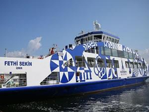 Polis Fethi Sekin'in isminin verildiği feribot denize indirildi