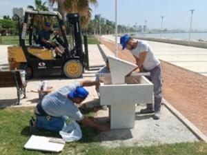 Parklara su tasarruflu çeşme yerleştirildi