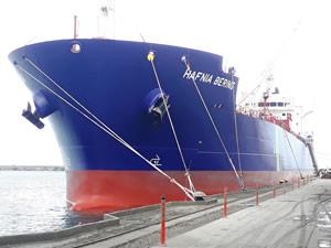 Hopaport ürün terminaline ilk tanker yanaştı