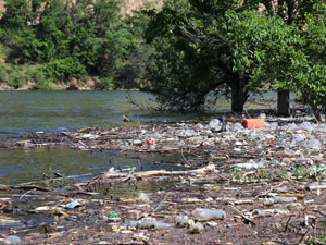Torul Barajı'nda kirliliğin önüne geçilemiyor