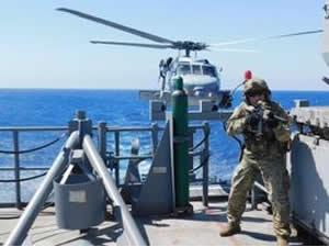 Akdeniz'de Türk Deniz Görev Grubu tarafından harekâta hazırlık eğitimleri icra edildi