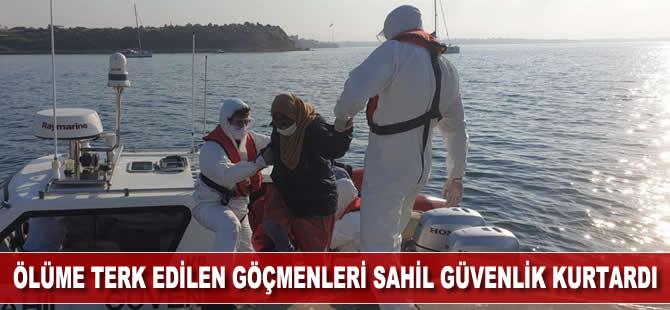 Ölüme terk edilen göçmenleri, Sahil Güvenlik botu kurtardı