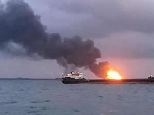 Kerç Boğazı'nda gemi yangını olayında sanıklar ilk kez hakim karşısında