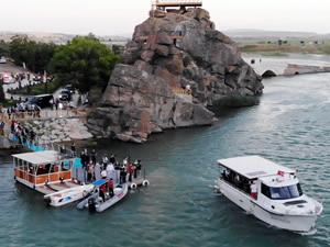 Kırıkkale Çeşnigir Köprüsü Kanyonu'nda tekne turu başladı