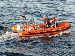 Mahsur kalan yaşlı çiftin imdadına Sahil Güvenlik yetişti