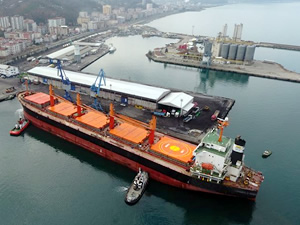 Hopaport, yılın ilk 6 ayında,103 gemiye ev sahipliği yaparken, 475 bin ton yük elleçledi