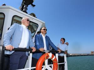 Sakarya Valisi Çetin Oktay Kaldırım, Karasu Limanı'nda incelemelerde bulundu
