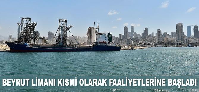 Beyrut Limanı patlamadan 1 hafta sonra kısmi olarak faaliyete başladı