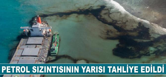 Morityus'taki petrol sızıntısının yarısı tahliye edildi