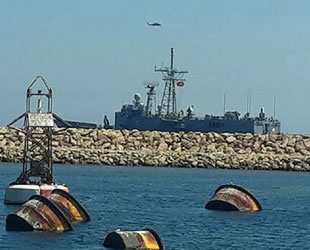 Türk fırkateyni El Khums Limanı yakınlarında görüntülendi