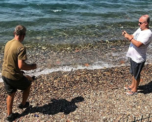 Amatör balıkçı oltayla vatos cinsi balık tuttu