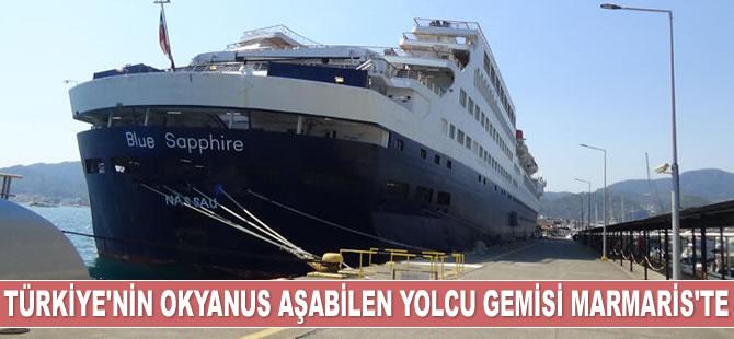 'Blue Saphire' isimli lüks yolcu gemisi, Marmaris'e demir attı