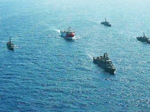 MTA Oruç Reis sismik araştırma gemisini artık 8 savaş gemisi koruyor
