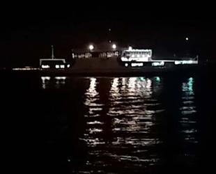 'Kanuni Sultan Süleyman' isimli feribot, Yalova'da karaya oturdu