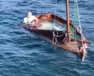 Bursa'da Larahan isimli tekne battı: 1 kişi kurtarıldı