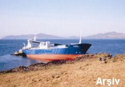 Karaya oturan gemi kurtuldu...