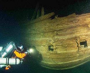 Baltık Denizi derinliklerinde 400 yıllık gemi keşfedildi