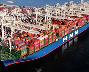 HMM Gdansk isimli mega konteyner gemisi, Jebel Ali Limanı'na yanaştı