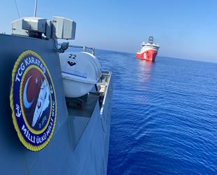 Araştırma ve sondaj gemilerine Türk Deniz Kuvvetleri refakat ediyor