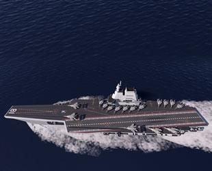 ABD, Çin'in uçak gemisinin inşasını görüntüledi