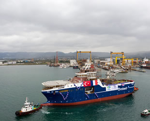 Cemre Tersanesi, 'Wind of Hope' isimli rüzgar türbini destek gemisini denize indirdi