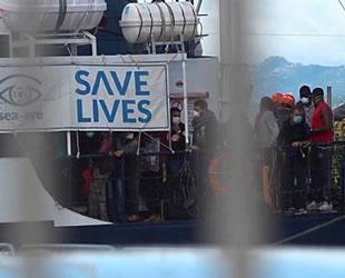 Alan Kurdi gemisi, 125 göçmenle Olbia Limanı'na yanaştı
