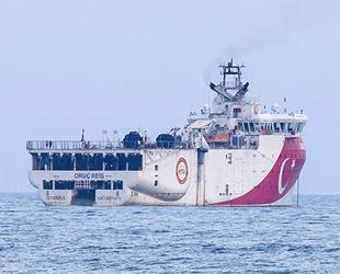 Oruç Reis sismik araştırma gemisi, Antalya Limanı'ndan ayrılarak açığa demirledi